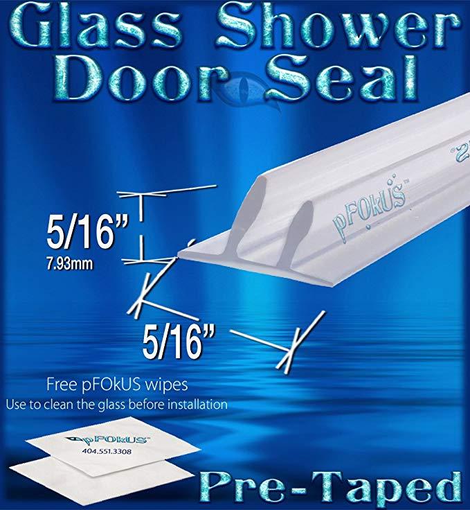 Ds100 Dual Fin Pretaped Replacement Shower Door Wipe